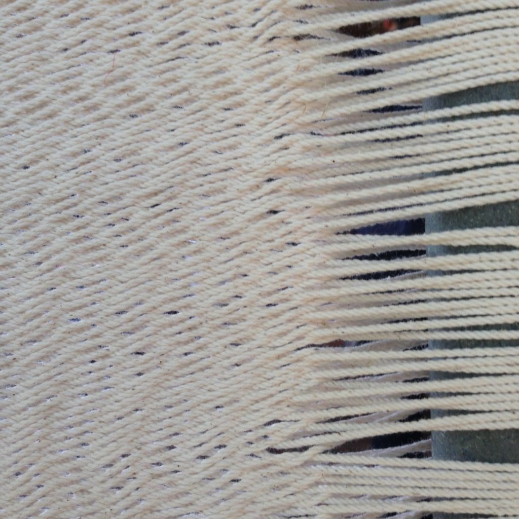 Detail of Sandra's Hammock weave. Photo taken at her home in Moca, PR